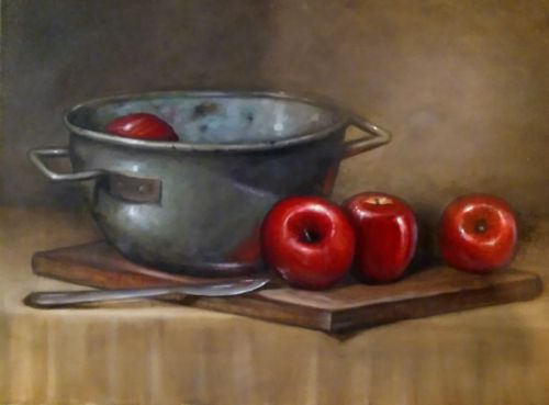 Apples & Copper Still Life
