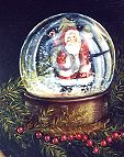 Christmas Santa Water GlobePattern Packet