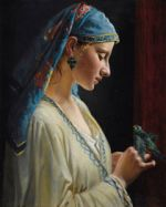 Online Class: (Starts on 2/16) Woman with Parrot After Frédéric Tschaggeny
