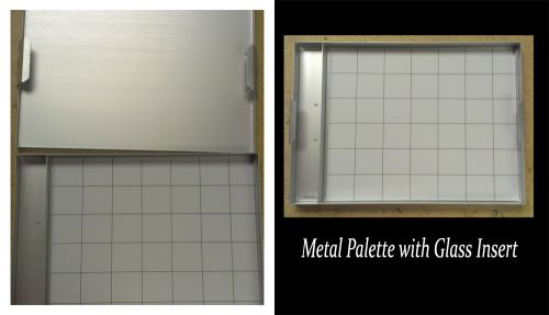 Metal Palette with Glass Insert - Medium
