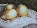 Pears & Lace in Watercolor
