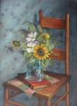 Sunflowers & Glass on ChairGiclee Print