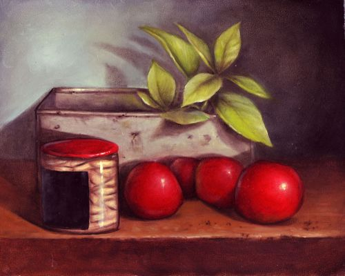 E-packet Tomato and Basil Still Life