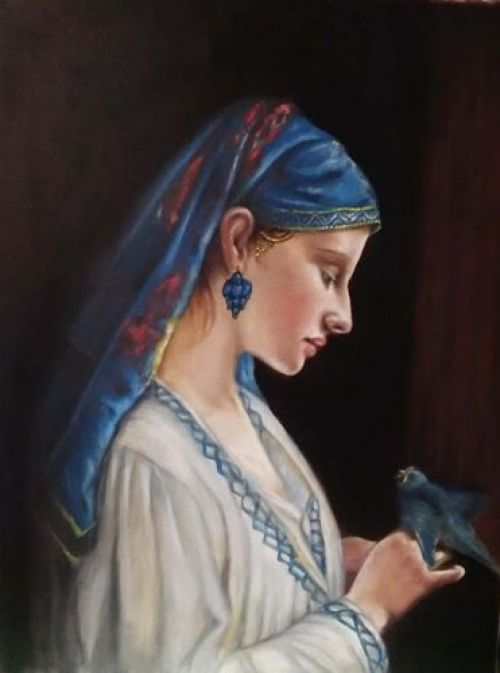 DVD or Lesson - Woman with Parrot  After Frédéric Tschaggeny