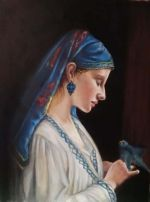 Online Class:  Woman with Parrot After Frédéric Tschaggeny
